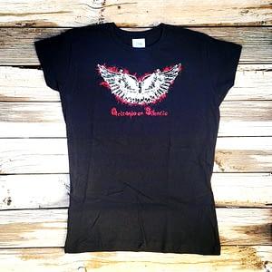 Camiseta Logo Alas negra entallada